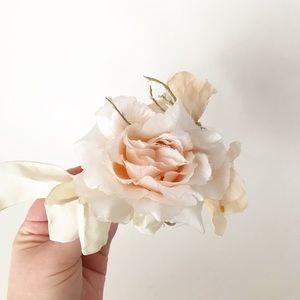 Vintage Bridal Hair Clip Floral Bow Barrette Piece